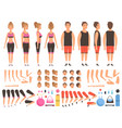 sport people animation fitness male and female vector image vector image
