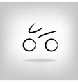stylized bicycle vector image