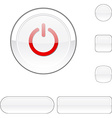 Switch white button vector image vector image