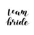 team bride brush lettering on white vector image vector image