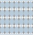 tile floral pattern with white grey and blue deco vector image