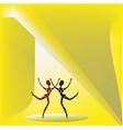 two dancing figures vector image vector image