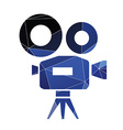 video camera icon Abstract Triangle vector image vector image