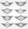 Vintage Blank Emblem vector image vector image