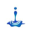 water splash vector image vector image
