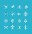 white snowflakes icon on blue background vector image vector image