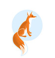 wild fox cartoon vector image vector image