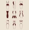 woman dresses vector image