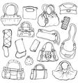 Womens handbags Hand drawn Set 2 vector image vector image