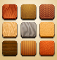 wood background for the app icons-part 2 vector image vector image