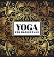 yoga and zen background design with mandala vector image
