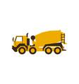icon concrete mixer construction machinery vector image