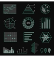Set of chart icons in thin lines Infographic vector image