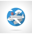Airline travel color detailed icon vector image
