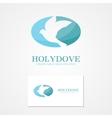 logo design dove of peace vector image