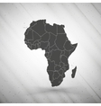 Africa map on gray background grunge texture vector image