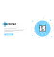 3d printer line icon simple icon banner outline vector image