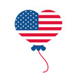 4th july independence day american flag in vector image vector image