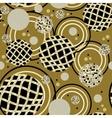 abstract circles seamless pattern vector image