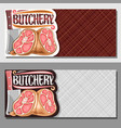 banners for butchery vector image