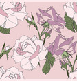 beautiful fabric blooming realisticflowers vector image vector image