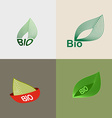 Bio logo green leaves leaves environmental icons vector image vector image