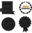black badges and seals vector image