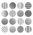 black hand drawn doodle circle shapes vector image