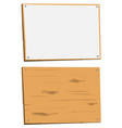 blank sign and wood sign vector image vector image