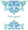 blue colorful decorative background abstraction vector image