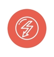 Bubble with lightning arrow thin line icon vector image vector image