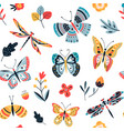 butterfly pattern flying butterflies moths vector image
