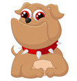 Cartoon adorable dog vector image vector image