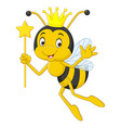 cartoon queen bee isolated on white background vector image vector image