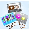 cassettes vector image