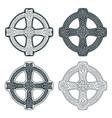 celtic cross ethnic ornament geometric vector image vector image