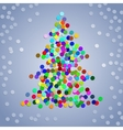 Christmas colorful confetti tree vector image