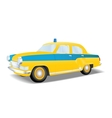 Classic police car of the USSR vector image