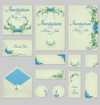 collection greeting cards with stylized bells can vector image vector image