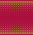 color halftone circle pattern background vector image