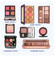 color makeup products vector image vector image