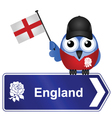 COUNTRY SIGN ENGLAND vector image vector image