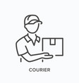 courier line icon outline of vector image