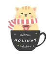 cute kitten for holiday vector image vector image