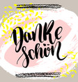 danke schoen thank you in german hand vector image vector image