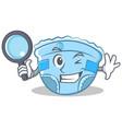 detective baby diaper character cartoon vector image vector image