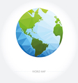 Earth World Map Low poly vector image vector image