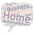 Enjoy Wealth from Home with a Turn Key Automated vector image vector image