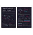 financial brochure with various infographics vector image vector image