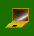 flat shading style icon laptop notebook vector image vector image
